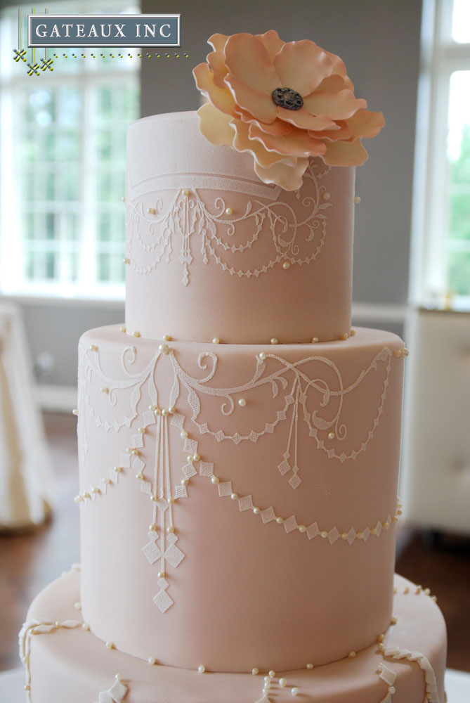 wedding cake tier height gateaux inc 26262