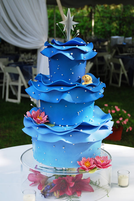 Sky Blue Wedding Cakes